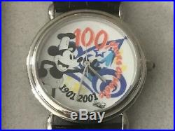 100 Years of Magic Walt Disney Mickey Mouse Watch Signed Framed 1901-2001
