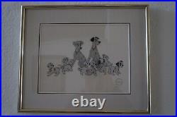 101 Dalmatians Ltd Edition Fine Art Serigraph