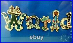 16 Pin Walt Disney World Letters with Character/Icon Framed SetAttractions WDW