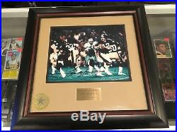 16x16 Terry Bradshaw Pittsburgh Steelers Signed Framed Photo Walt Disney Cert