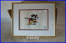 1935 The Walt Disney Company LMT Edition Serigraph From On Ice Mickey & Minnie