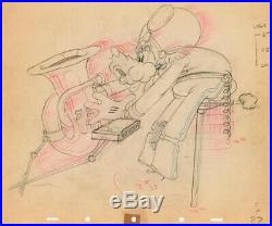1937 Rare Walt Disney Goofy original framed production animation drawing Bonhams