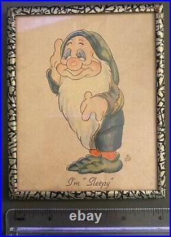 1938 Walt Disney W. D. Enterprise ENT. Snow White And Seven 7 Dwarfs Photo Frames