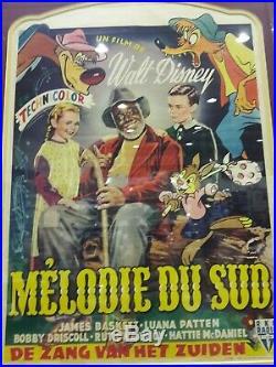 1946 Belgium SONG OF THE SOUTH Walt Disney Framed Original Movie Poster