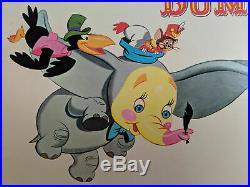 1959 Walt Disney's DUMBO Disneyland 25x16.5 Custom Framed Record Album and Cover