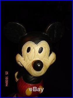 1970's Vintage 10 Mickey Mouse Statue High Quality Walt Disney World