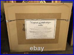 1993 Walt Disney Fantasia Mickey Mouse Sorcerer's Apprentice Framed Sericel