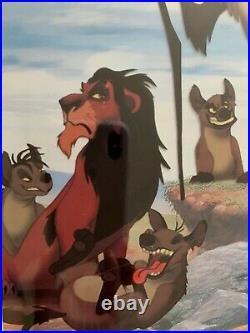 1994 Lion King Animated Cel COA Commemorative Program SPECTACULAR MINT Framed