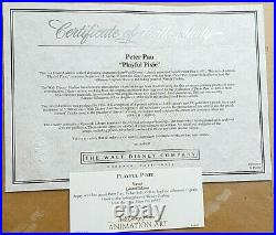 1996 Walt Disney PETER PAN PLAYFUL PIXIE Tinkerbell L. E. FRAMED SERICEL withCOA