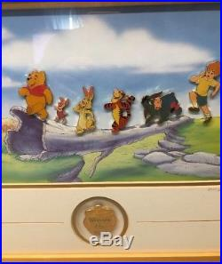 1999 Framed Winnie the Pooh Limited Edition Pin Set POOH'S ADVENTURE 2055/2500