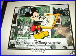 #1 Mickey Mouse Disney MGM Studio hand Painted Cel NEW FRAME Walt background