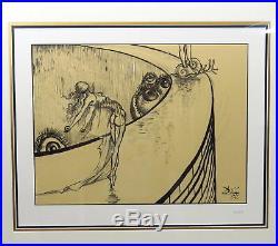 2006 DESTINO #67 WALT DISNEY SALVADOR DALI SERIGRAPH SIGNED 12 x 16 FRAMED COA