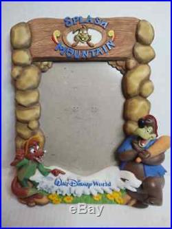 3D RARE Walt Disney World SPLASH MOUNTAIN Brer Rabbit BEAR Fox PICTURE FRAME