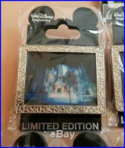 (7) Walt Disney Pins WDI The Haunted Mansion Ghosts Silver Frame Portraits LE