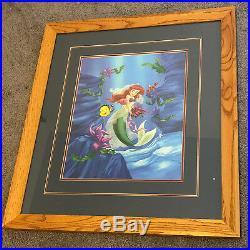ARIEL LITTLE MERMAID PICTURE FRAME wall hanging Flounder Sebastian walt disney