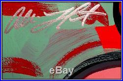 Allison Lefcort Mickey Mouse Original Acrylic Painting Signed Walt Disney Art