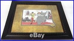 Antique 25 Framed 1950 Walt Disney Limited Cinderella Wedding Serigraph Cel Art