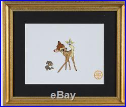 Bambi Walt Disney Serigraph. Limited Edition Framed and Matted 18 x 20.5