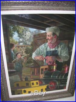 Bob Byerley Original Oil on Board Walt's Magical Barn-framed Disney piece