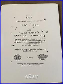 Bradford Exchange Walt Disney's 100 Year Anniversary 3D Plates, Mickey WithFrame