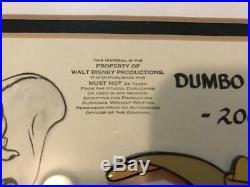 Brand New Walt Disney Dumbo Model Sheet 2006 Framed #'d 639/5000 Pin Set