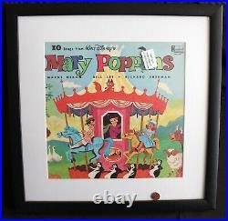 C1964 Disneyland Records, Walt Disney Mary Poppins LP, FRAMED ALBUM #1256