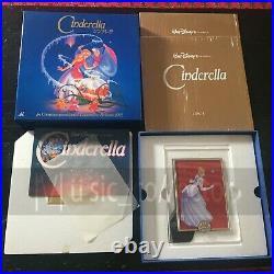 CINDERELLA Walt Disney Laserdisc Box Music Sheet Picture Frame Plate PILA-1125
