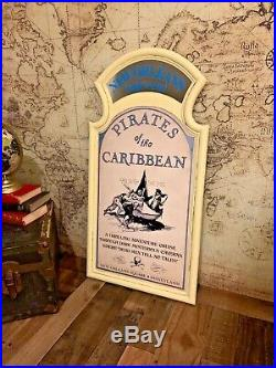 COMPLETE Pirates of the Caribbean Attraction Sign Prop Frame Mirror Walt Disney