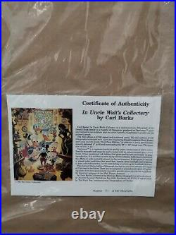 Carl Barks Disney In Uncle Walt's Collectery New Framed Free Shipping