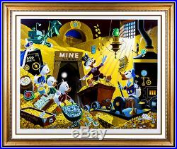 Carl Barks Large Color Serigraph Hand Signed Uncle Scrooge Duck Walt Disney Art
