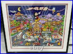 Charles Fazzino 3D Pop Art Mickey Wood Walt Disney Artist Proof 53/100