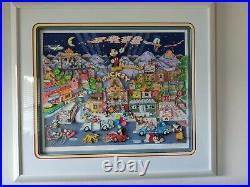 Charles Fazzino 3D Pop Art Mickey Wood Walt Disney Proof 47/300