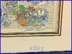 Charles Fazzino 3D Pop Art Mickey's World Tour Walt Disney LE 325/600
