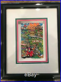 Charles Fazzino 3-D Art, Walt Disney World Florida, signed AP 19/25