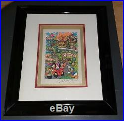 Charles Fazzino WALT DISNEY WORLD Hand Signed Limited Edition FRAMED with COA