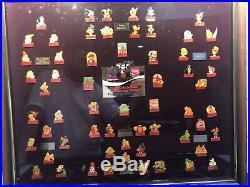 Coca-Cola Salutes Walt Disney World Happy 15th Birthday 60-Pin Framed Set 86 NR