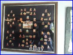 Coca Cola Walt Disney World Pin Set 15th Birthday Framed