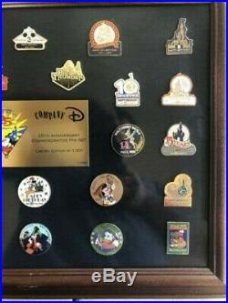 Company D Walt Disney World 25th Anniversary Commemorative Pin Set Frame LE 1000