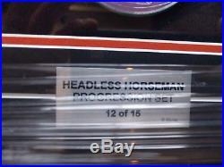 D23 Expo 2017 Headless Horseman Pin Progression Set Framed LE 15 3DAY Shipping