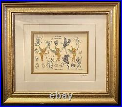 DISNEY GALLERY Tinkerbell Sketches Limited Edition Framed Pin Collector Set