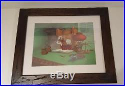 DISNEY Mickeys Christmas Carol cel Scrooge Mcduck rare edition cell Framed