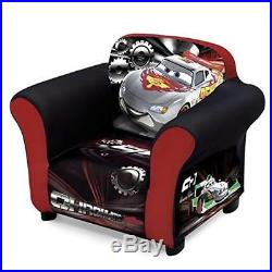 Delta Children Plastic Frame Upholstered Chair, Disney/Pixar Cars Machine Washab