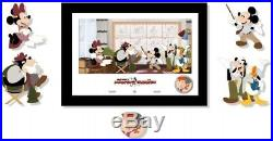 Disney Animation Celebration Mickey And The Beanstalk 5 Pin Frame Set LE 150 NEW