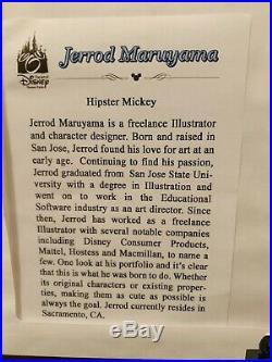 Disney Artist Print Jerrod Maruyama Hipster Mickey Walt Disney Framed