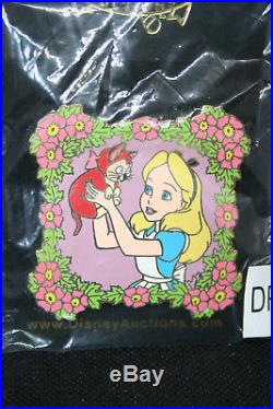 Disney Auctions Alice and Dinah in Floral Frame LE1000 pin