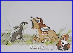 Disney Bambi & Thumper Framed Lithograph signed by Ollie Johnston LE #490/500
