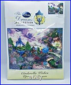 Disney CINDERELLA WISHES UPON A DREAM Thomas Kinkade Cross Stitch Kit 52503