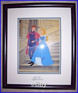 Disney Cel Sleeping Beauty Phillip & Aurora- Limited Edition SIGNED FRAMED