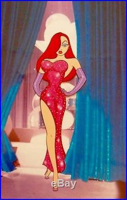 Disney Cel Who Framed Roger Rabbit Jessica's Debut Rare animation Art Cell