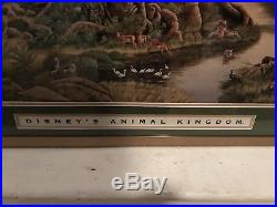 Disney Clive Kay Animal Kingdom TREE OF LIFE 1998 RARE RETIRED LTD. Print framed